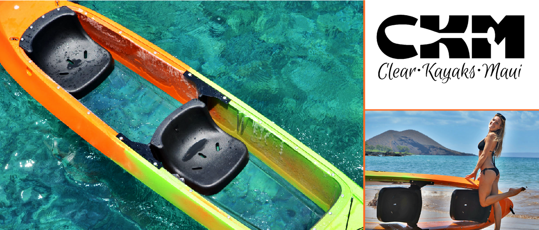 Bottom glass kayak